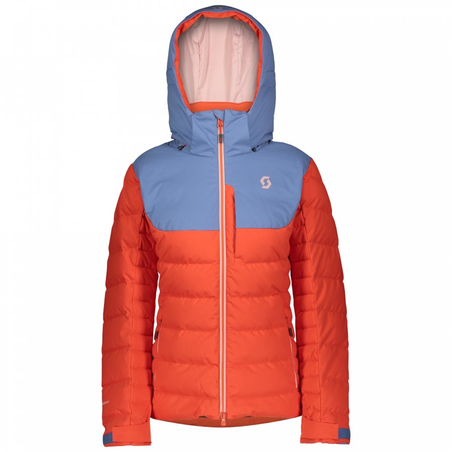 Куртка женская Scott Ultimate Down Riverside Blue/Grenadine Orange 1