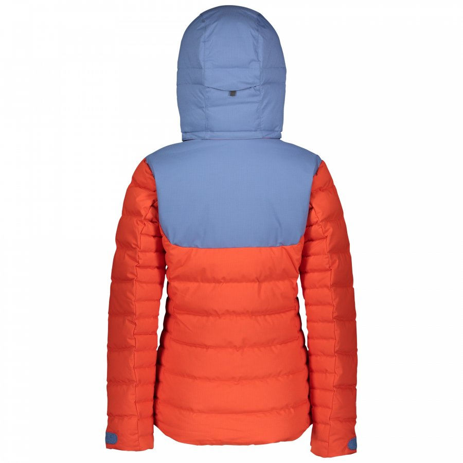 Куртка женская Scott Ultimate Down Riverside Blue/Grenadine Orange 2
