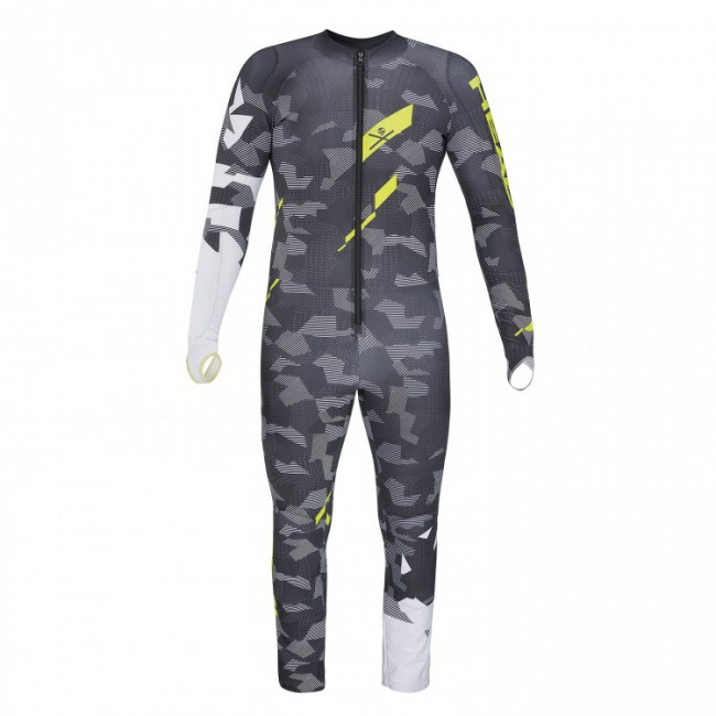 КОМБИНЕЗОН HEAD RACE VOLTAGE TEAM SUIT JR GRAY/YELLOW (2019) 1