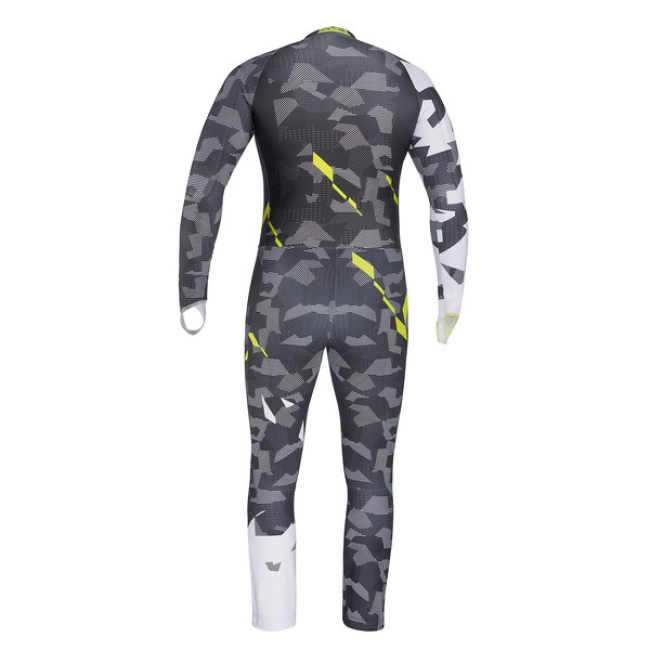 КОМБИНЕЗОН HEAD RACE VOLTAGE TEAM SUIT JR GRAY/YELLOW (2019) 2