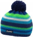 Шапка детская Eisbar Caja Pompon MU Blue/Green/White kids 028