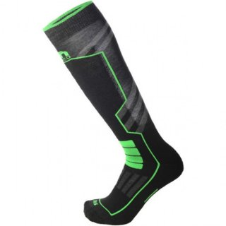 НОСКИ SKI PERFORMANCE SOCK IN MERACLON NERO VERDE FLUO
